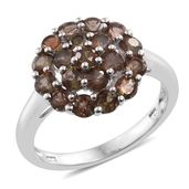 Jenipapo Andalusite Platinum Over Sterling Silver Ring (Size 9.0) TGW 2.30 cts.