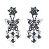 Narsipatnam Alexandrite Platinum Over Sterling Silver Earrings TGW 1.84 Cts.
