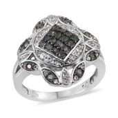 Narsipatnam Alexandrite, White Topaz Platinum Over Sterling Silver Ring (Size 7.0) TGW 1.14 cts.