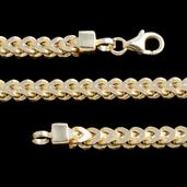 14K YG Over Sterling Silver Franco Chain (30 in, 29.5 g)