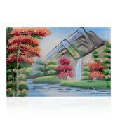 Waterfall Citrine, Aquamarine, Spinel, Multi Gemstone Artwork (12x8 in)