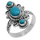 Bali Legacy Collection Arizona Sleeping Beauty Turquoise Sterling Silver Ring (Size 6.0) TGW 1.770 cts.