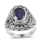 Artisan Crafted Rough Cut Tanzanite Sterling Silver Ring (Size 8.0) TGW 3.000 cts.