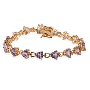 Rose De France Amethyst 14K YG Over Sterling Silver Bracelet (7.25 In) TGW 10.080 cts.