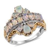 Ethiopian Welo Opal 14K YG and Platinum Over Sterling Silver Ring (Size 9.0) TGW 2.420 cts.