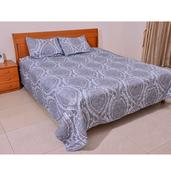 Blue Paisley Print Microfiber 3 Piece Bedding Set (Full/Queen Duvet and 2 Pillow Shams)