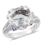 XIA Kunzite, Multi Gemstone Platinum Over Sterling Silver Split Ring (Size 7.0) TGW 13.120 cts.