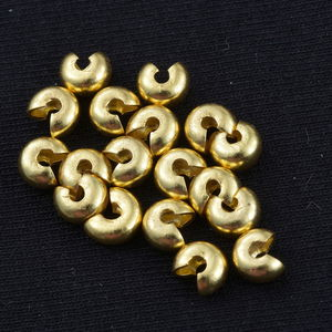 Gem Workshop Goldtone Crimp Covers Set of 200 (5 mm)