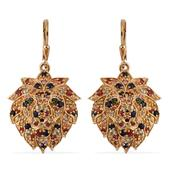 Jewel Studio by Shweta Multi Gemstone 14K YG Over Sterling Silver Earrings TGW 4.445 Cts.