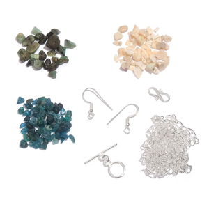 LC DIY Multi Gemstone Sterling Silver Findings TGW 300.000 cts.