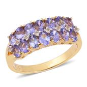 Tanzanite, White Topaz 14K YG Over Sterling Silver Ring (Size 7.0) TGW 2.650 cts.