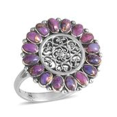 Santa Fe Style Mojave Purple Turquoise Sterling Silver Ring (Size 10.0) TGW 2.10 cts.