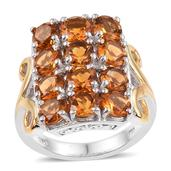 Santa Ana Madeira Citrine 14K YG and Platinum Over Sterling Silver Ring (Size 5.0) TGW 5.290 cts.