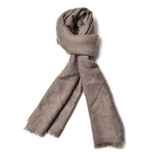 J Francis - Taupe 100% Acrylic Scarf with Sequin (75x26 in)