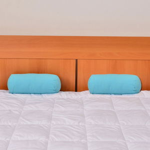 Set of 2 Turquoise Microfiber Body Pillow Covers (13.5x6 In)