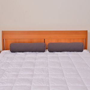 Set of 2 Dark Gray Microfiber Body Pillow Covers (28x8 In)