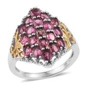 Morro Redondo Pink Tourmaline 14K YG and Platinum Over Sterling Silver Ring (Size 6.0) TGW 3.80 cts.