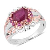 Niassa Ruby, Orissa Rhodolite Garnet 14K YG Over and Sterling Silver Ring (Size 7.0) TGW 3.100 cts.