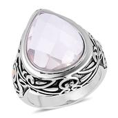 Austrian Crystal ION Plated YG and Stainless Steel Ring (Size 9.0)