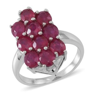 Niassa Ruby Sterling Silver Ring (Size 9.0) TGW 5.50 cts.