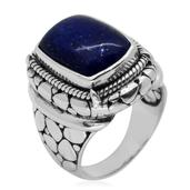 Bali Legacy Collection Lapis Lazuli Sterling Silver Ring (Size 6.0) TGW 12.440 cts.