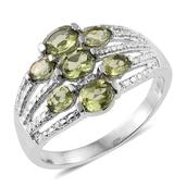 Hebei Peridot Stainless Steel Ring (Size 8.0) TGW 1.940 cts.