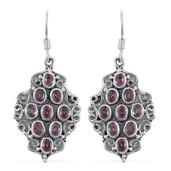 Artisan Crafted Madagascar Pink Sapphire Sterling Silver Earrings TGW 2.34 cts.