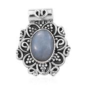 Artisan Crafted Mexican Angelite Sterling Silver Pendant without Chain TGW 4.55 cts.
