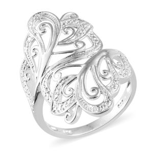Sterling Silver Bypass Ring (Size 6.0)