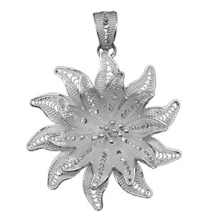Bali Legacy Collection Sterling Silver Flower Pendant without Chain (3.5 g)