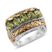 Arizona Peridot 14K YG and Platinum Over Sterling Silver Ring (Size 7.0) TGW 2.650 cts.