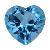 Blue Topaz (Hrt 8 mm) TGW 1.92 Cts.