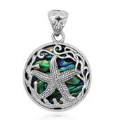 Bali Legacy Collection Abalone Shell Sterling Silver Star fish pendant without Chain Total Gem Stone Weight 12.000 Carat
