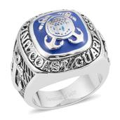 Stainless Steel Coast Guard Men's Ring (Size 13.0)