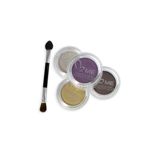 ME Eye Addiction II Includes: 4 Eyeshadow Pots, 1 Dual end Applicator with Clear Vinyl Case (0.17 oz)