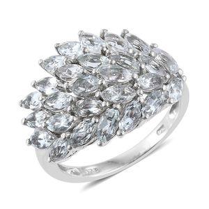 Brazilian Goshenite Platinum Over Sterling Silver Ring (Size 10.0) TGW 4.15 cts.