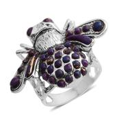 Santa Fe Style Mojave Purple Turquoise Sterling Silver Ring (Size 8.0) TGW 8.120 cts.