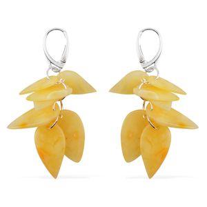 Butterscotch Amber Sterling Silver Dangle Earrings