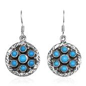 Artisan Crafted Arizona Sleeping Beauty Turquoise Sterling Silver Dangle Earrings TGW 2.14 cts.
