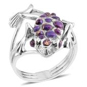 Santa Fe Style Mojave Purple Turquoise Sterling Silver Ring (Size 6.0) TGW 0.001 cts.