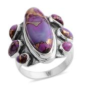 Santa Fe Style Mojave Purple Turquoise Sterling Silver Ring (Size 7.0) TGW 2.500 cts.