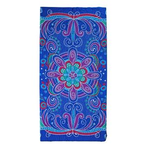 Blue Motif Work Rayon Sarong (70.8x47.2 in)