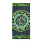 Green Mandala and Elephant Pattern 100% Rayon Sarong (70x46 in)