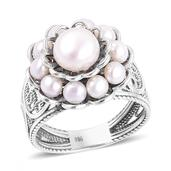 Freshwater Pearl Sterling Silver Ring (Size 5.0) (7.2 g)