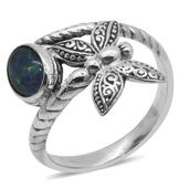 Bali Legacy Collection Australian Boulder Opal Sterling Silver Ring (Size 8.0) TGW 1.100 cts.