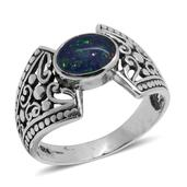 Bali Legacy Collection Australian Boulder Opal Sterling Silver Ring (Size 8.0) TGW 1.260 cts.