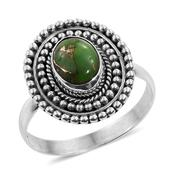 Artisan Crafted Mojave Green Turquoise Sterling Silver Ring (Size 8.0) TGW 1.690 cts.