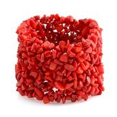 Tucson Jewels Coral Bracelet (Stretchable) (7.00 In) TGW 0.001 cts.