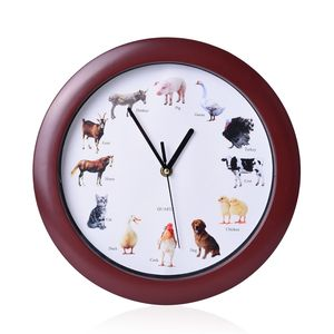 Animal Resin Fancy Wall Clock (11.4x11.4x1.18 in) (AA Batteries Not Included)