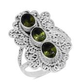 Bali Legacy Collection Hebei Peridot Sterling Silver Elongated Split Ring (Size 9.0) TGW 2.50 cts.